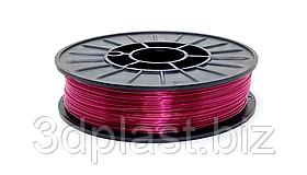 CoPET (PETg) пластик 3Dplast для 3D принтера 1.75 мм 0.75 кг, прозрачный бордовый