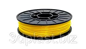 CoPET (PETg) пластик 3Dplast для 3D принтера 1.75 мм 0.75 кг, прозрачный желтый