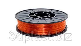 CoPET (PETg) пластик 3Dplast для 3D принтера 1.75 мм 0.75 кг, прозрачный оранжевый