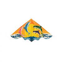 Повітряний змій M 3335 поліетилен 120 см (Дельфіни)