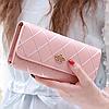 Женский клатч с короной стеганый Crown, розовый