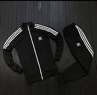 Спортивный костюм Adidas весна черно-белый