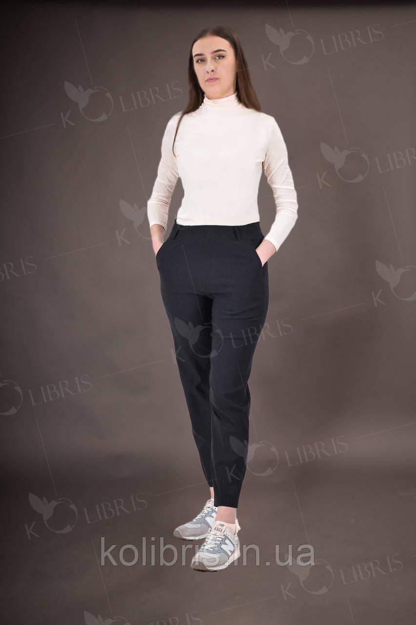 Женские летние брюки чинос из коттона черного цвета