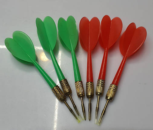 Легкие дротики дартс для игры в дартс 12 штук (красные, зеленые), фото 2