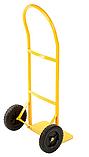 Тележка платформенная ручная, грузовая, 80 кг, 1000х460х360 мм., фото 3