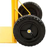 Тележка платформенная ручная, грузовая, 80 кг, 1000х460х360 мм., фото 5