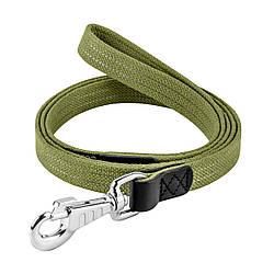 Брезентовий поводок для собак КОЛЛАР бавовняні тасьма зі світловідбиваючою ниткою д. 150 см ш. 35 мм 200
