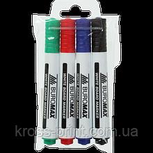 Набор из 4 маркеров для магн. досок (черн., син., зел., красн.)