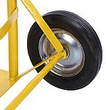 Тележка платформенная ручная, грузовая, 150 кг, 1100х460х400 мм., фото 9