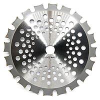 Диск для мотокосы бензокосы триммера с победитовыми напайками двухсторонний 255mm*1,3mm*25,4mm*40