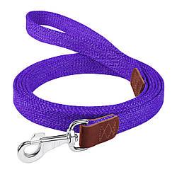 Брезентовий поводок для собак КОЛЛАР бавовняні тасьма д. 300 см ш. 25 мм Червоний фіолетовий