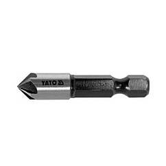 "Зенкер конический по металлу YATO: HSS, O = 8.3 мм, l = 40 мм, 5 кромок, HEX- 1/4 """