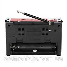 Радіоприймач колонка з радіо FM USB MicroSD і ліхтариком Golon RX-381 Red на акумуляторі