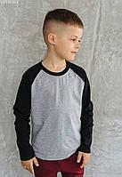 Детский лонгслив Staff black & gray. [Размеры в наличии: 122,128,134,140,146,152,158]