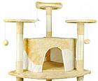 Когтеточка, домики, дряпка для кошек 200 см бежевая, фото 5