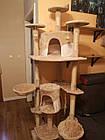 Когтеточка, домики, дряпка для кошек 200 см бежевая, фото 8