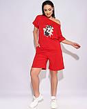 Жіночий літній спортивний костюм футболка і шорти розмір: 50-52, 54-56, 58-60, 62-64, фото 6