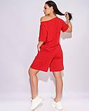 Жіночий літній спортивний костюм футболка і шорти розмір: 50-52, 54-56, 58-60, 62-64, фото 7