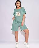 Жіночий літній спортивний костюм футболка і шорти розмір: 50-52, 54-56, 58-60, 62-64, фото 10