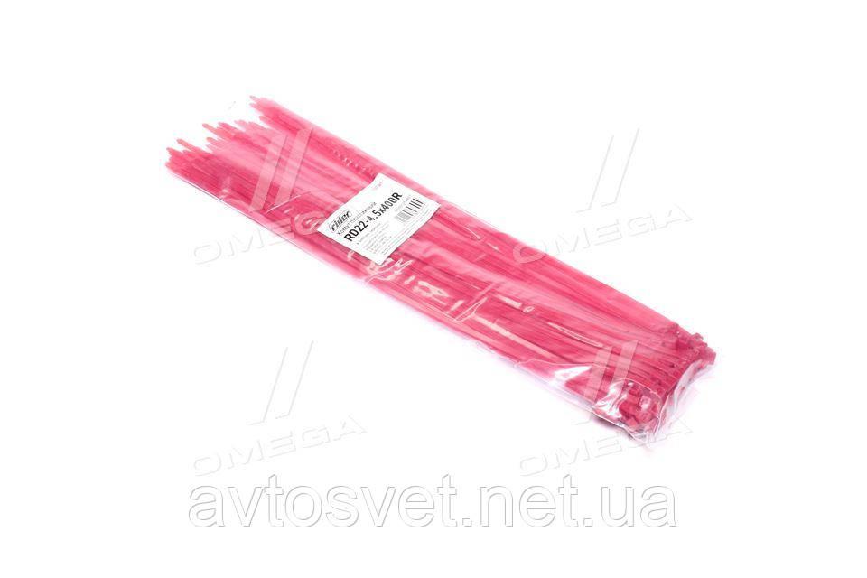 Хомут пластиковый 4.5х400мм. красный 100шт./уп.  RD22-4.5х400R