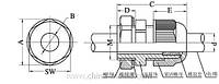 PG16 (Sanhe, кабельный ввод, нейлон, неопреновый уплотнитель)