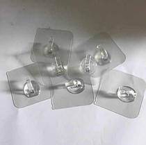 Крючки на клейкой основе Small HANGER plastic 10 шт