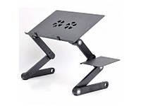 Регульований складаний столик для ноутбука LAPTOP TABLE T8 Чорний, фото 1