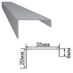 Армуючий профіль для вікон ПВХ 8x35x20 1