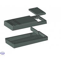 Z48 (Z-48)(Kradex, корпус, PS, черный, 35x80x145мм, комплект)