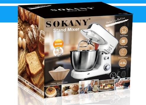 Кухонный комбайн тестомес миксер Sokany SC-209 800 Ватт