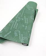 Зеленая бумага с печатью для упаковки цветов и подарков GRACIA