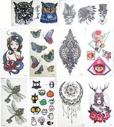 Татуировки переводные детские, 10 листов