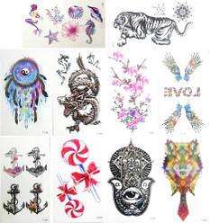 Татуировки переводные детские, маленькие, микс