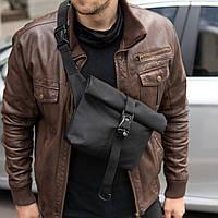 Мужская сумка роллтоп через плечо GUDINI TRAP металл фаст