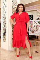 Платье летнее большого размера So StyleM Красное