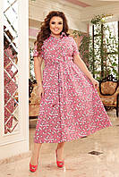 Платье летнее большого размера So StyleM Розовое