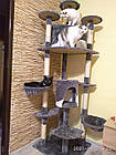 Когтеточка, домики, дряпка для кошек 200 см серо-белый, фото 7