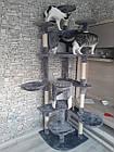 Когтеточка, домики, дряпка для кошек 200 см серо-белый, фото 8