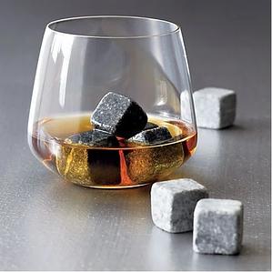 Камені для охолодження віскі і напоїв Whiskey stones 9 шт Сірий кубики для віскі багаторазовий лід