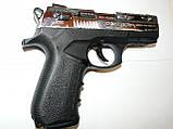 Пістолет стартовий Stalke (Zoraki) 2918 s shiny crome Engraved, фото 2