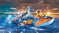 Плеймобил атака акули і рятувальний човен Playmobil Shark Attack and Rescue Boat