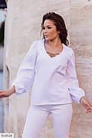 Блузка женская красивая украшена цепочками на груди р-ры 42-44,46-48 арт 476