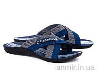 """Шлёпанцы взрослые мужские  Lorin poli grey-blue (40-45) """"Ok Shoes"""" купить оптом на 7км"""