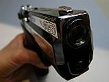Пістолет стартовий Stalke (Zoraki) 2918 s shiny crome Engraved, фото 5