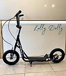 Двухколесный самокат iTrike для взрослых на надувных колесах Черный, фото 3