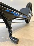 Двухколесный самокат iTrike для взрослых на надувных колесах Черный, фото 2