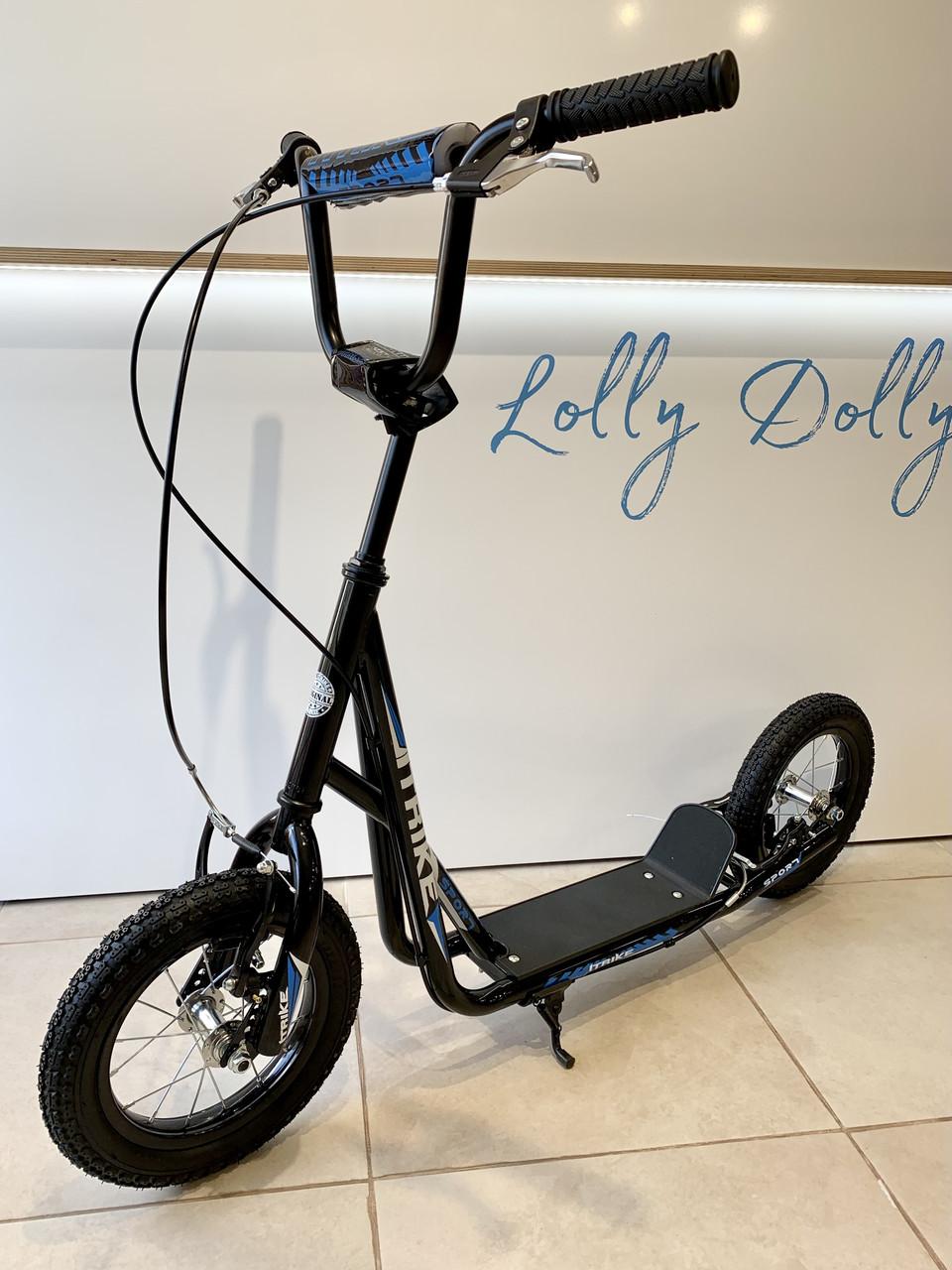 Двоколісний самокат iTrike для дорослих на надувних колесах Чорний