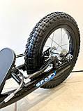 Двухколесный самокат iTrike для взрослых на надувных колесах Черный, фото 6
