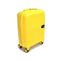 Мала валіза пластикова Carbon на 37 л, жовта, фото 1