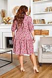 Легке жіноче батальне плаття на грудях з красивим вирізом і на шнурку (р. 50-64), фото 4